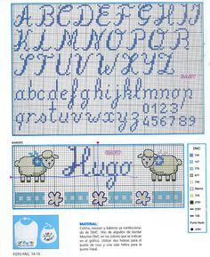 Thrilling Designing Your Own Cross Stitch Embroidery Patterns Ideas. Exhilarating Designing Your Own Cross Stitch Embroidery Patterns Ideas. Cross Stitch Alphabet Patterns, Embroidery Alphabet, Cross Stitch Letters, Cross Stitch Baby, Cross Stitch Charts, Embroidery Patterns, Cross Stitching, Cross Stitch Embroidery, Hand Embroidery