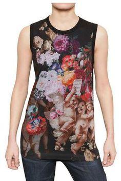 Dolce & Gabbana Cotton Jersey & Washed Silk Tank Top