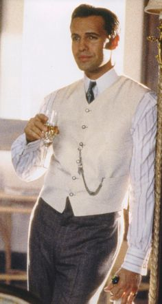 Billy Zane as Cal Hockley in 'Titanic' (1997). Costume Designer: Deborah L. Scott