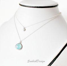 Aquamarine Jewelry  Layered Necklace  Sterling by SnobishDesign, $45.00