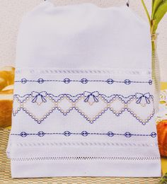 Items similar to Swedish Weaving (Huck Weaving) Embellished Tea Towels Leaves Yellow on Etsy Ribbon Embroidery, Cross Stitch Embroidery, Embroidery Patterns, Swedish Weaving Patterns, Bargello Needlepoint, Swedish Embroidery, Chicken Scratch Embroidery, Monks Cloth, Weaving Designs