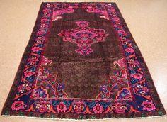 5 x 10 PERSIAN KURDISH Tribal Hand Knotted Wool BROWN PINK Oriental Rug #PersianKurdishTribalNomadicGeometric