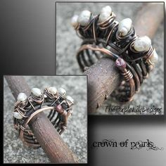 Crown of Pearls Antiqued woven Copper and by ThePurpleLilyDesigns, $55.00