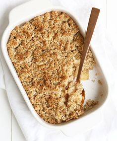 HEALTHY APPEL CRUMBLE Healthy Deserts, Healthy Cake, Healthy Sweets, Healthy Baking, Vitamine B17, Snack Recipes, Dessert Recipes, Desserts, Healthy Apple Crumble