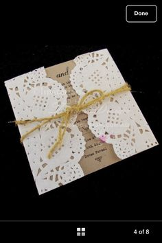 Beautiful natural, vintage inspired invites.