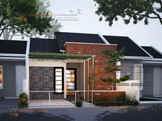 desain minimalis – Page 4 – sembilanstudio House Front Design, Modern House Design, Model House Plan, House Plans, Tropical House Design, Facade House, Luxury Apartments, Home Fashion, Exterior Design