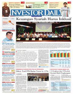 Investor Daily - 11 Agustus 2016 | Keuangan Syariah Harus Inklusif | Investor Daily