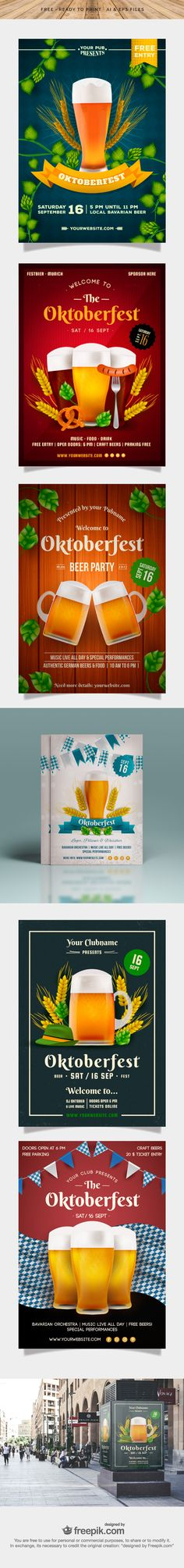 Free Download : Awesome Oktoberfest Posters (Ready To Print)