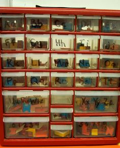 Good way to organize letters in a classroom. It helps students use the alphabet to find which ever letter they are looking for thoughout the whole section of boxes. 0278
