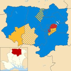 Basingstoke and Deane UK local election 2008 map.svg