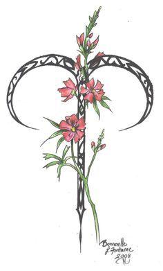 flower Aries tattoos | Zodiac Flower Design: Aries by D-Angeline