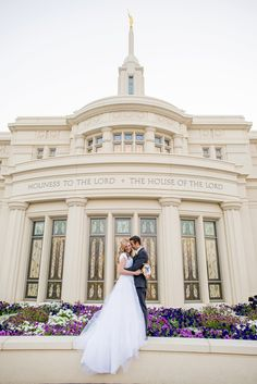 Payson Utah LDS Wedding by Michelle & Logan
