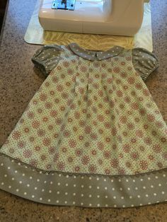 Sweet toddler dress... Simplicity 1447. Green/grey combination was a nice…