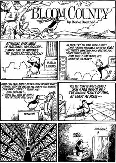 Throw the Internet into the mix and he's got me dead on. Bloom County