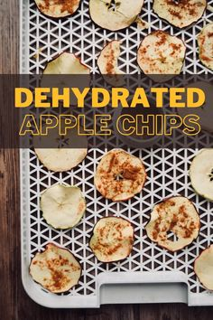 Dehydrated Apple chips are crispy, sweet and the perfect healthy snack. You can save a lot of money by making them at home with a food dehydrator. It's an easy process! Made plain, or sprinkled with cinnamon, you'll love these tasty treats! Vegetarian Recipes Easy, Healthy Dessert Recipes, Healthy Snacks, Snack Recipes, Dehydrated Apples, Dehydrated Food, Best Apple Recipes, Fall Recipes, Apple Chips