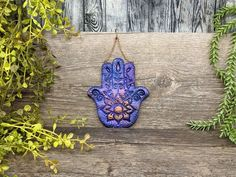 Hamsa Hand Christmas Yule Tree Ornament Wiccan Protection image 2 Wiccan Decor, Wiccan Altar, Witch Jewelry, Pagan Jewelry, Witchcraft Supplies, Pagan Witch, Hand Of Fatima, Clay Ornaments, Witch Aesthetic