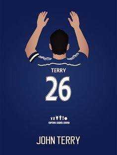 Chelsea FC Legends: John Terry by EdMdotmedia on Etsy Club Chelsea, Chelsea Fans, Chelsea Football, Football Soccer, Football Tottenham, Football Boots, Chelsea Wallpapers, Chelsea Fc Wallpaper, Steven Gerrard