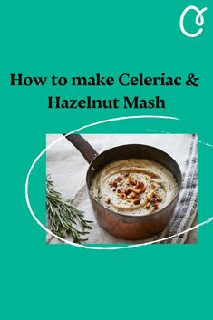 This is a gorgeous, nutty, creamy, earthy and decadently delicious dairy-free mash. It's great with roast turkey, goose or venison. Mash Recipe, Celeriac, Roasted Turkey, Venison, Healthy Treats, Diy Food, Earthy, Diet Recipes, Dairy Free