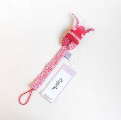 Baby girl pacifier hanger  ZUPETA: cute monster by Zezling on Etsy