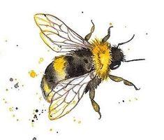 ♡ @ tatte d x r e v ol v e r ♡ Bee Painting, Painting & Drawing, Painting Tattoo, Painting Inspiration, Art Inspo, Animal Drawings, Art Drawings, Bumble Bee Tattoo, Desenho Tattoo