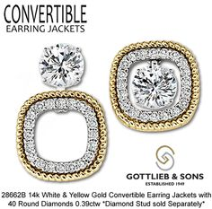 Give Your Studs New Life With Our Convertible Earring Jackets That Allow You To Wear Three Diffe Ways Visit Favorite Gottlieb Sons