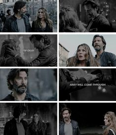 "#The100 4x01 ""Echoes"" - ""I'm okay. We focus on what comes next."" - #MarcusKane #AbigailGriffin"