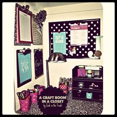 Pinterest Tuesday: How to Organize a Craft Room in a Closet! | Junk in the Trunk