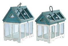 S/2 Birdhouse Terrariums on OneKingsLane.com birdhouses, greenhous garden, birdhous terrarium, creativ garden, asst, countri chic, s2 birdhous, king lane, country