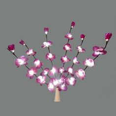 """these might be pretty to stick in the wine bottles at the tables :)                               30"""" Battery Operated LED Lighted Artificial Purple Orchid Flower Branch"""