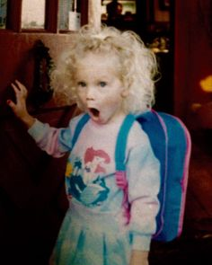 """Taylor Swift - In honor of her birthday, she shared this pic of her as a kid, to celebrate the beginning of her """"26th year of freaking out over stuff."""" Lol..."""