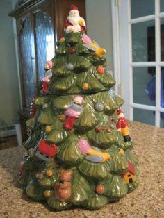 Wonderful Christmas Tree Cookie Jar By Spode
