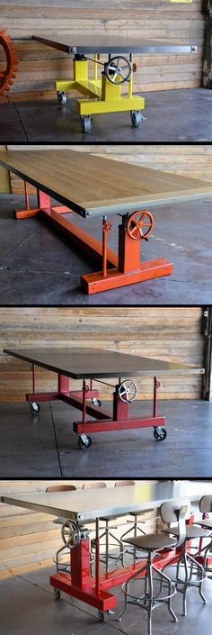 Crank Tables by Vintage Industrial in Phoenix, AZ