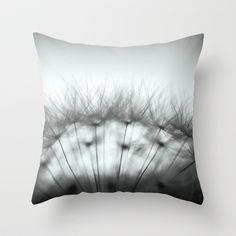Dandelion & Sun I. (black) Throw Pillow by Martin Misik - $20.00 // #pillow #print #art #society6 #dandelion #sunset #prague #macro #flower #blue #yellow #fluff #seed #flying #calm #quiet #still #relaxation #meditation #evening #blackandwhite #bw #globe