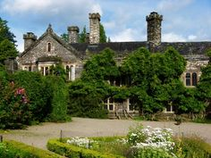 Gwydir Castle courtyard from a Welsh castle ghost story. It's also a B and B