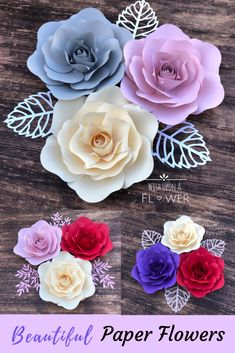 23 Clever DIY Christmas Decoration Ideas By Crafty Panda Paper Flower Wall, Paper Flowers Diy, Paper Flower Backdrop, Flower Wall Decor, Felt Flowers, Flower Crafts, Paper Flower Templates, Diy Crafts Videos, Diy Crafts For Kids
