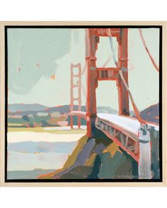 """Bridge Mist"" by Paul Norwood, $1220, available at #serenaandlily"