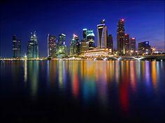 The Central Business District (CBD) of Singapore from the Esplanade. Central Business District, Dream City, Travelogue, Just Go, Singapore, New York Skyline, Dubai, Travelling, Asia
