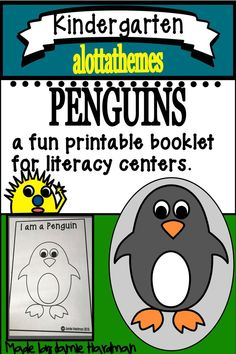 PENGUIN theme Sight word literacy centers for Kindergarten - Language Activities, Reading Activities, Literacy Activities, Literacy Centers, Kindergarten Themes, Kindergarten Classroom, Classroom Ideas, Site Words, Learning Through Play