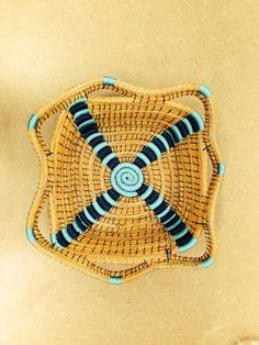 HandWoven Pine Needle Basket by TeamGuatemala on Etsy, $21.00