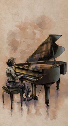 Piano lesson with Danuta by Yanosik on DeviantArt