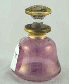 DECO PINK GLASS PERFUME BOTTLE