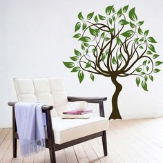 Bring The Nature Inside With Tree Wall Stickers - www.freshinterior.me