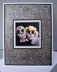 Day of the Dead Wedding Card