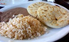 Arroz, frijoles molidos, y tortillas:) This used to be one of my favorite meals as a kid!  salvadoran food | ... an urge for el salvadorian food