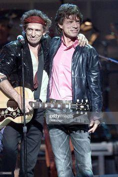 Keith Richards and Mick Jagger by Dave Hogan.