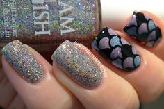 Love Varnish: Glam Polish Under The Sea mermaid nails