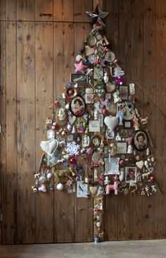 A collection of over 40 Unique Christmas Trees & Christmas Tree Alternatives to help you create your own unique take on the traditional Christmas Tree. Unique Christmas Trees, Alternative Christmas Tree, Decoration Christmas, Wooden Christmas Trees, Noel Christmas, Christmas Crafts, Christmas Ornaments, Xmas Trees, Vintage Christmas