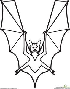Color the Vampire Bat Letter V