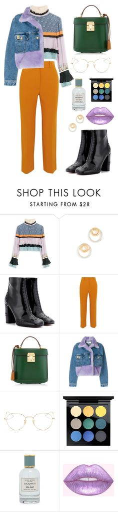 """""""2018: colour, texture and fun!"""" by bechs on Polyvore featuring Madewell, Chloé, Victoria Beckham, Mark Cross, Natasha Zinko, Ray-Ban, MAC Cosmetics and Henri Bendel"""