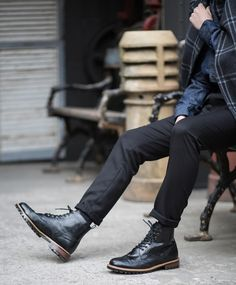 Man in Pink | Brogue Boots